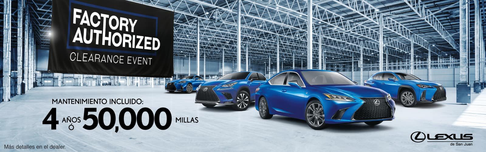 Lexus Authorized Clearance Event Octubre Web Banners 1