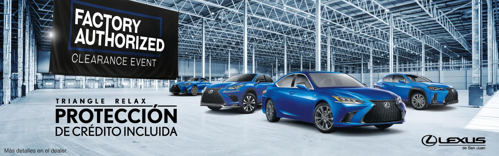 Lexus Authorized Clearance Event Octubre Web Banners 2