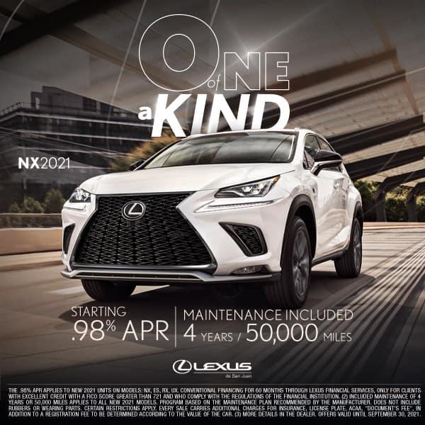 NX 2021 Starting at 0.98%
