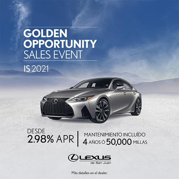 Lexus Performance IS 2021 desde de 2.98% APR