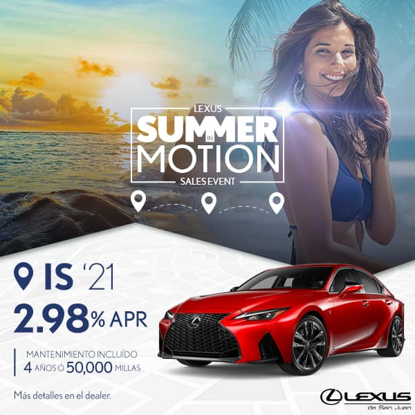 Summer Motion IS 2021 desde de 2.98% APR