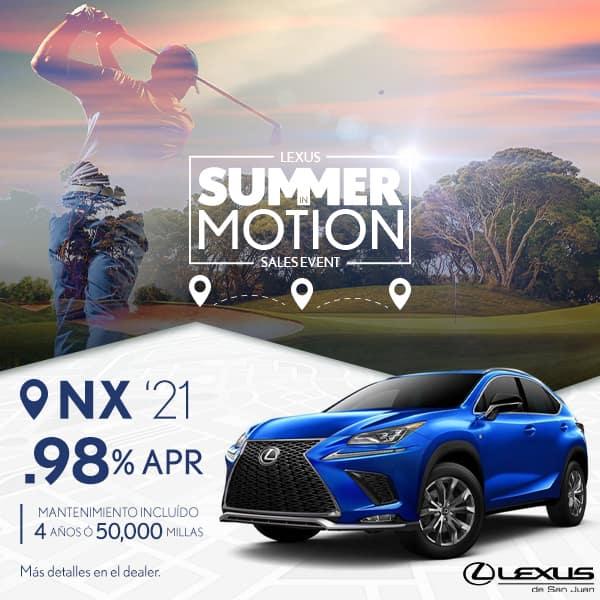Summer Motion NX 2021 desde de 0.98% APR