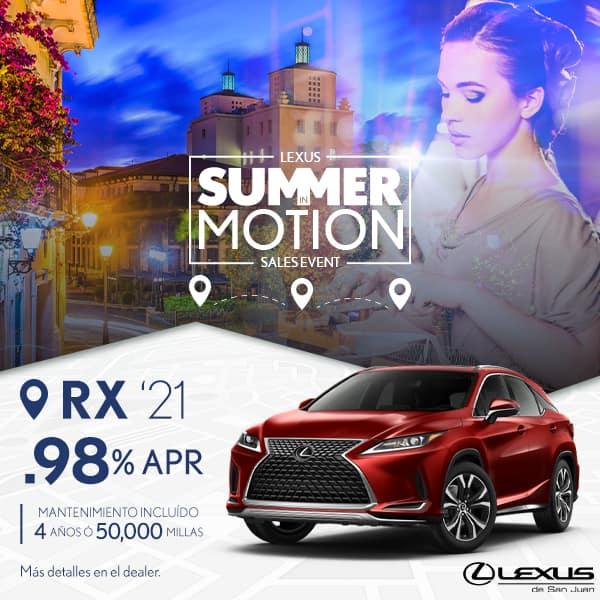Summer Motion RX 2021 desde de 0.98% APR