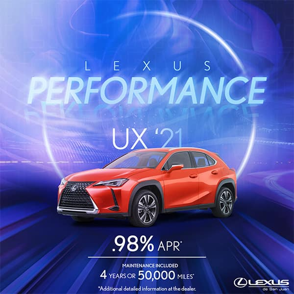 Lexus Performance UX 2021 Starting at 0.98%