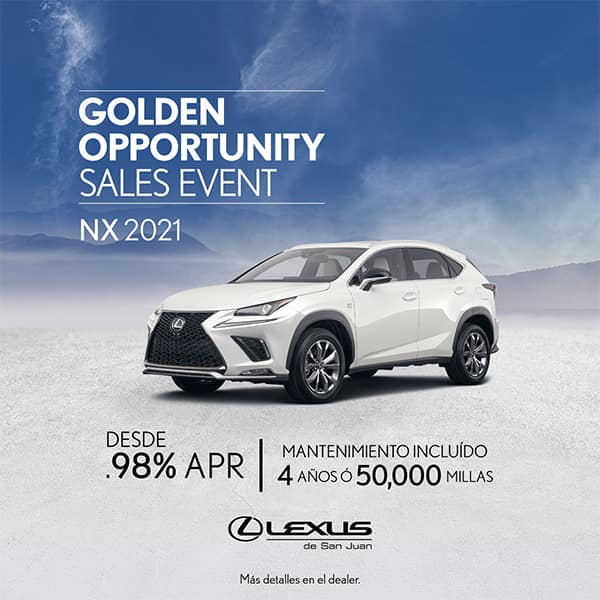 Lexus Performance NX 2021 desde de 0.98% APR
