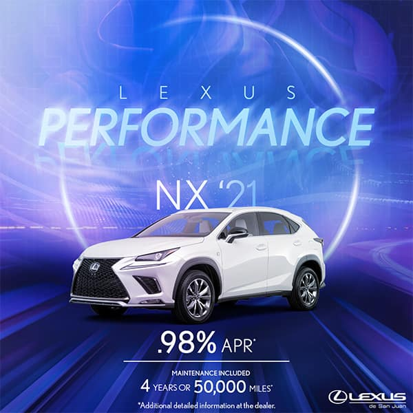 Lexus Performance NX 2021 Starting at 0.98%