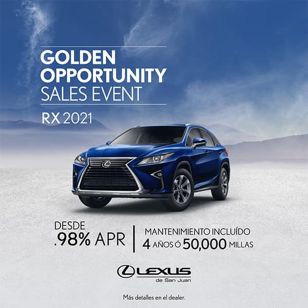 Lexus Performance RX 2021 desde de 0.98% APR