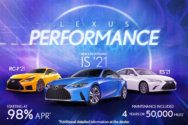 Lexus Performance February 2021 Starting at 0.98%
