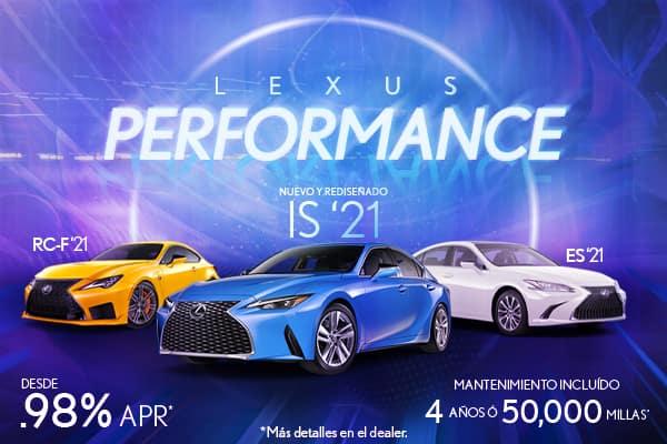 Lexus Performance Abril 2021 desde 0.98%
