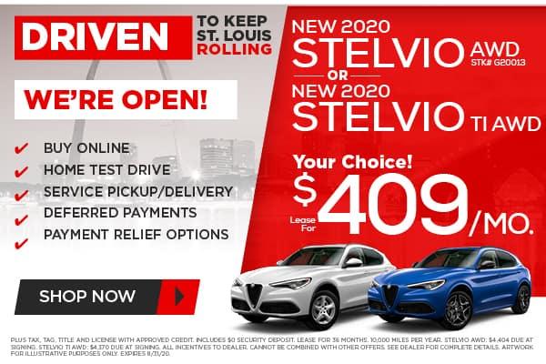 NEW 2020 ALFA ROMEO STELVIO AWD or STELVIO Ti AWD