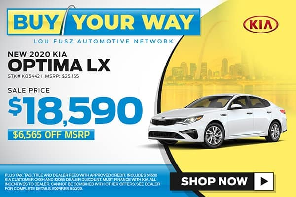 New 2020 Kia Optima LX FWD 4dr Car