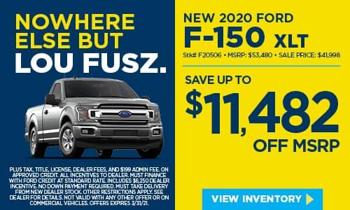 New 2020 Ford F-150 XLT 4WD Crew Cab Pickup