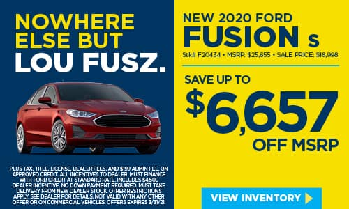 New 2020 Ford Fusion S FWD 4dr Car