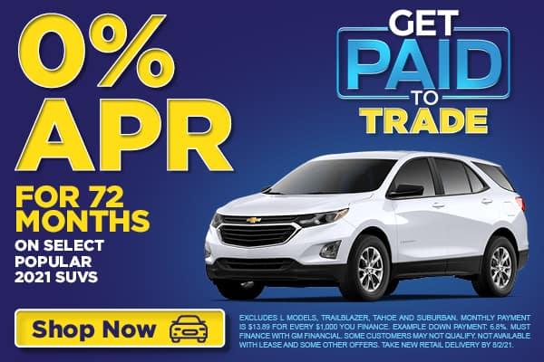 0% APR on select SUVs