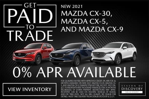 NEW 2021 MAZDA CX-30, MAZDA CX-5, AND MAZDA CX-9