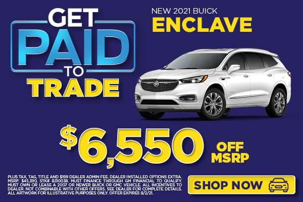 NEW 2021 BUICK ENCLAVE $6,550 OFF MSRP