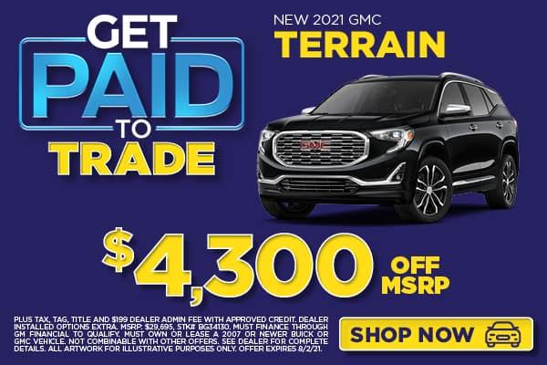 NEW 2021 GMC TERRAIN $4,300 OFF MSRP