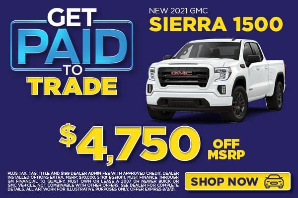 NEW 2021 GMC SIERRA 1500 $4,750 OFF MSRP