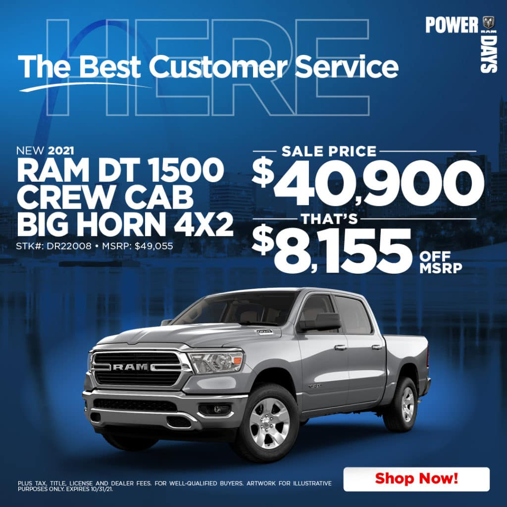 New 2022 Ram 1500 Big Horn RWD Crew Cab Pickup