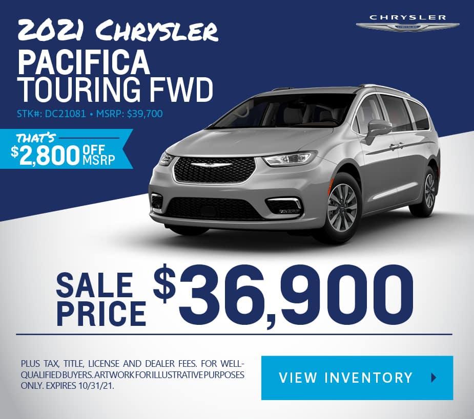 New 2021 Chrysler Pacifica Touring FWD Mini-van, Passenger