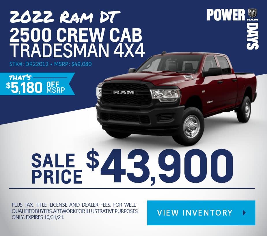 New 2022 Ram 2500 Tradesman 4WD Crew Cab Pickup