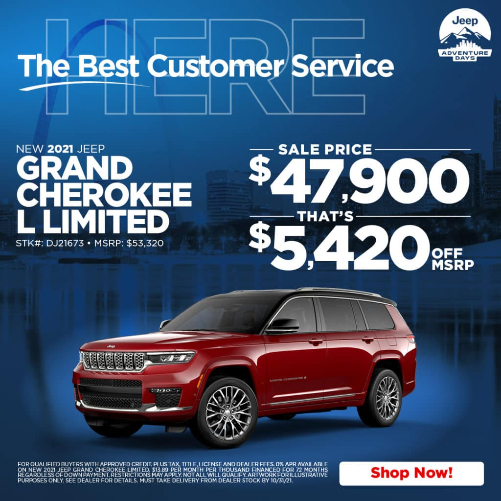 New 2021 Jeep Grand Cherokee L Limited 4WD Sport Utility