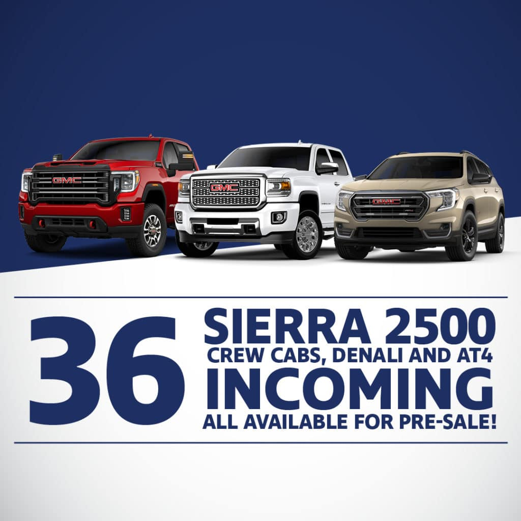 36 Sierra 2500 Available for Pre-Sale