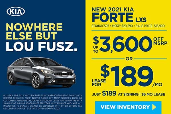 New 2021 Kia Forte LXS