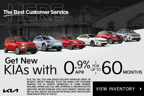 GET 0.9% APR FOR UP TO 60 MONTHS