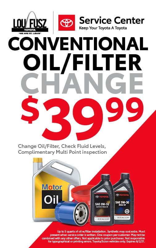 CONVENTIONAL OIL/FILTER CHANGE