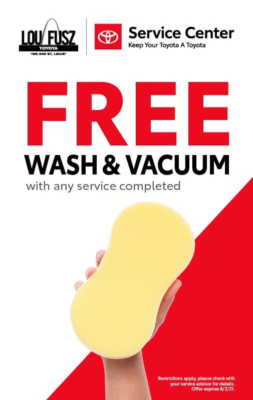 FREE WASH AND VACUUM