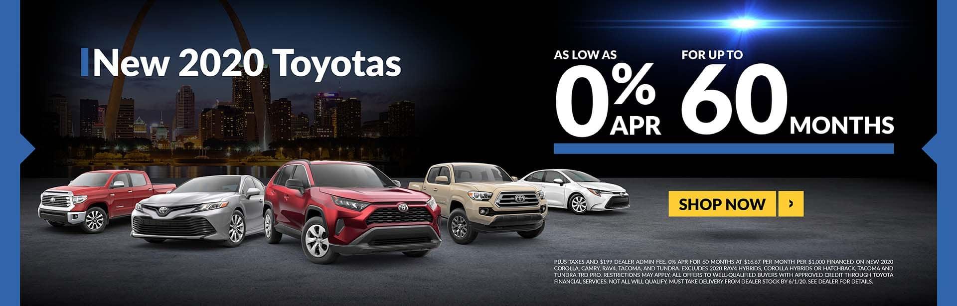 New 2020 Toyotas