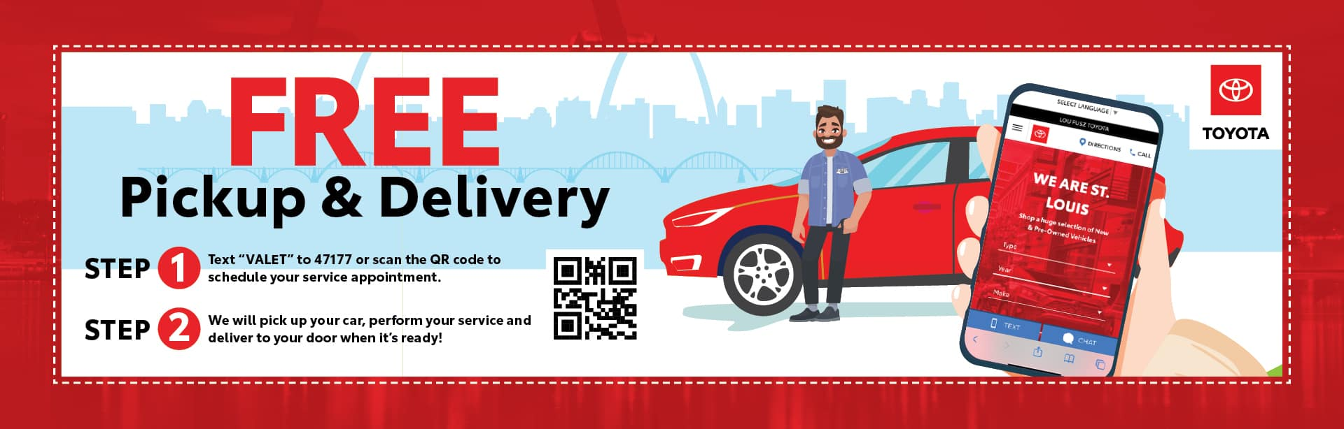 Free pick up & delivery