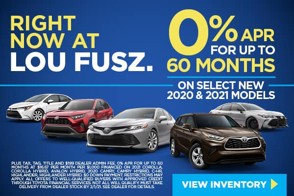 0% APR FOR UP TO 60 MONTHS ON SELECT NEW 2020 AND 2021 MODELS