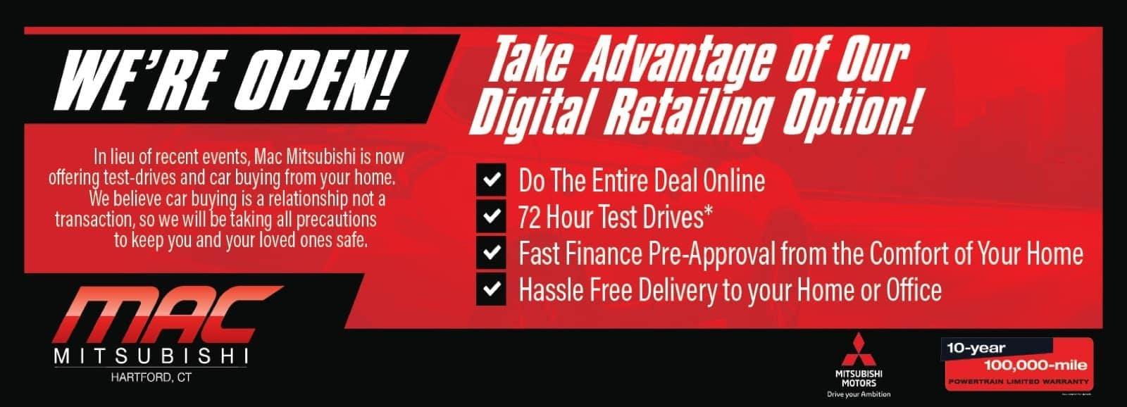 Mac Mitsubishi Digital Retailing banner