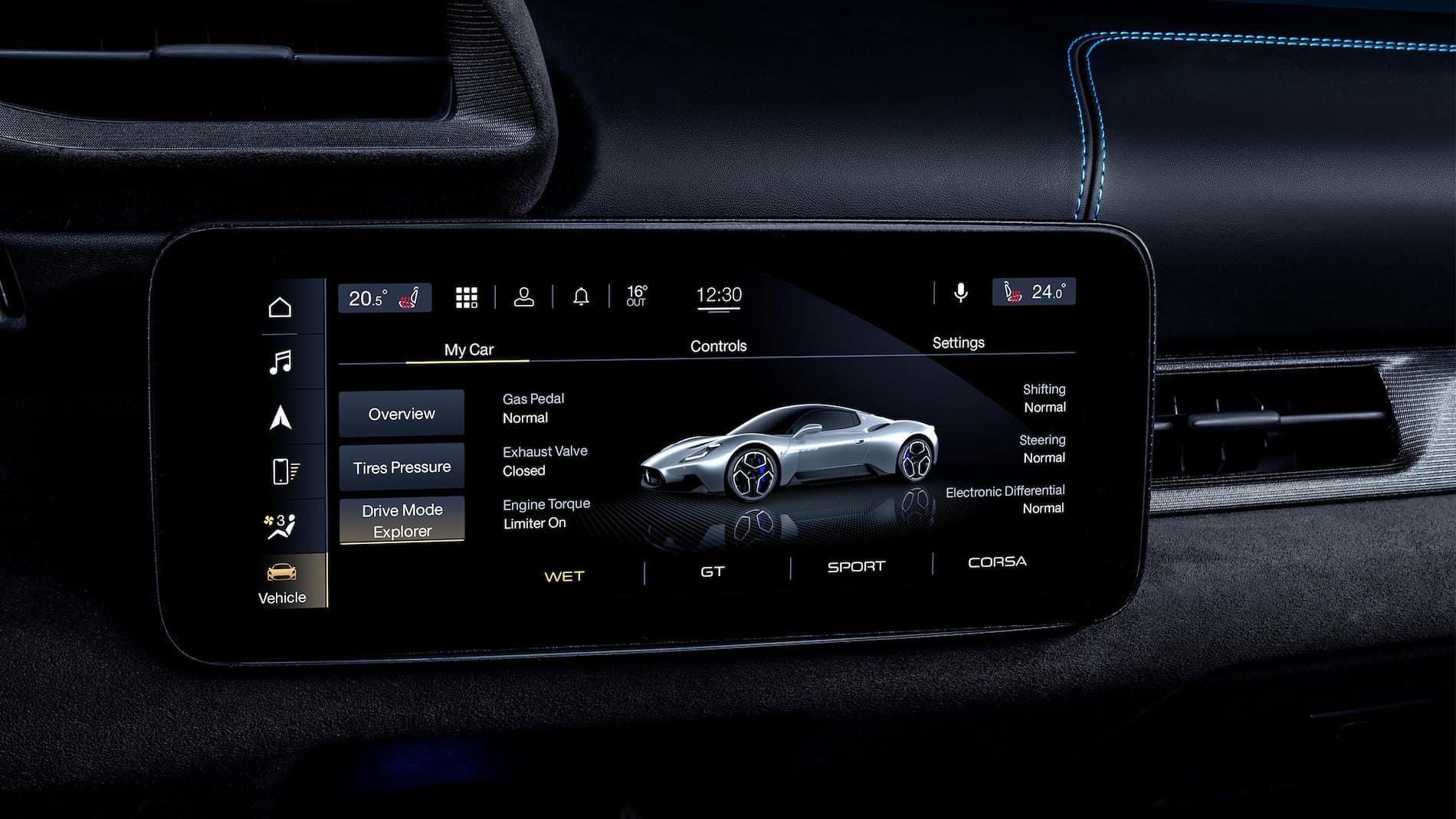 Maserati MC20 Screen