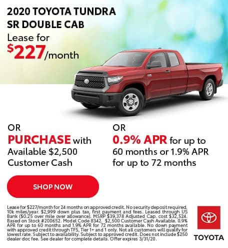 New 2020 Toyota Tundra SR 4x4 Double Cab
