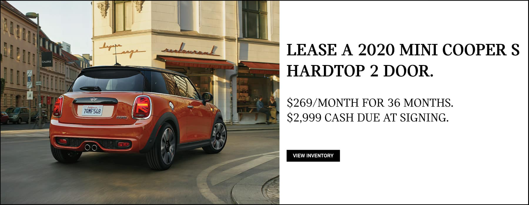Lease a 2020 MINI Cooper S Hardtop 2 Door for $269/mo. View Inventory