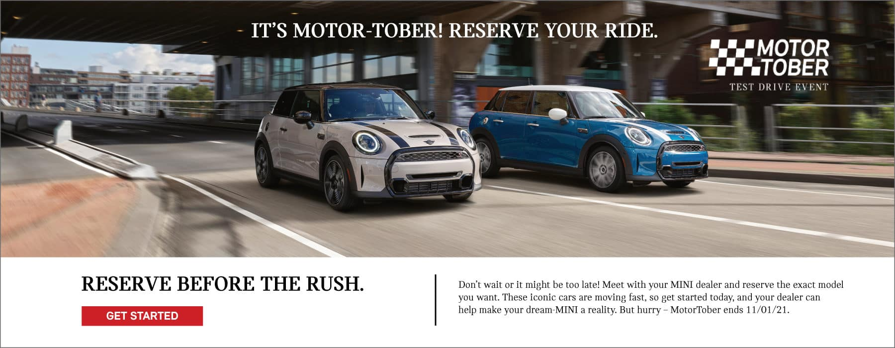 Its Motor Tober! Reserve your ride today! Get in before the rush!