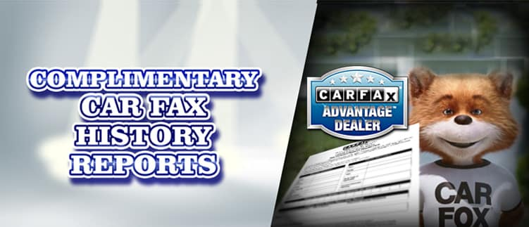 Complimentary Car Fax History Reports