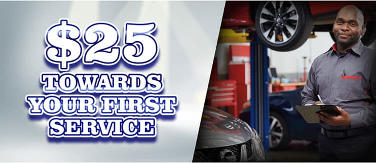 $25 Towards Your First Service