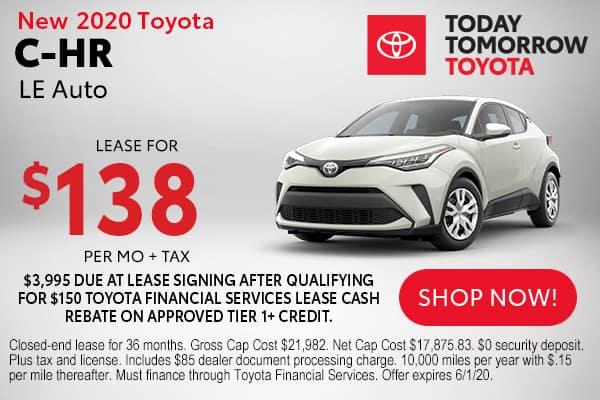 New 2020 Toyota C-HR LE Auto