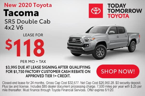 New 2020 Toyota Tacoma SR5 Double Cab 4x2 V6