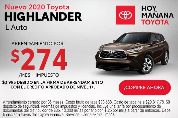 2020 Toyota Highlander L Auto