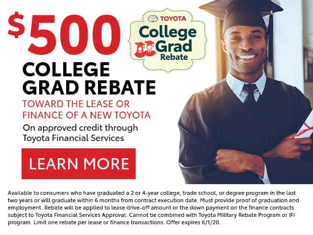 $500 College Graduate Rebate