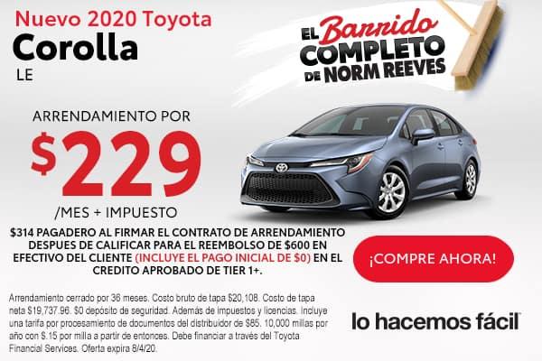 2020 Toyota Corolla LE FWD Auto
