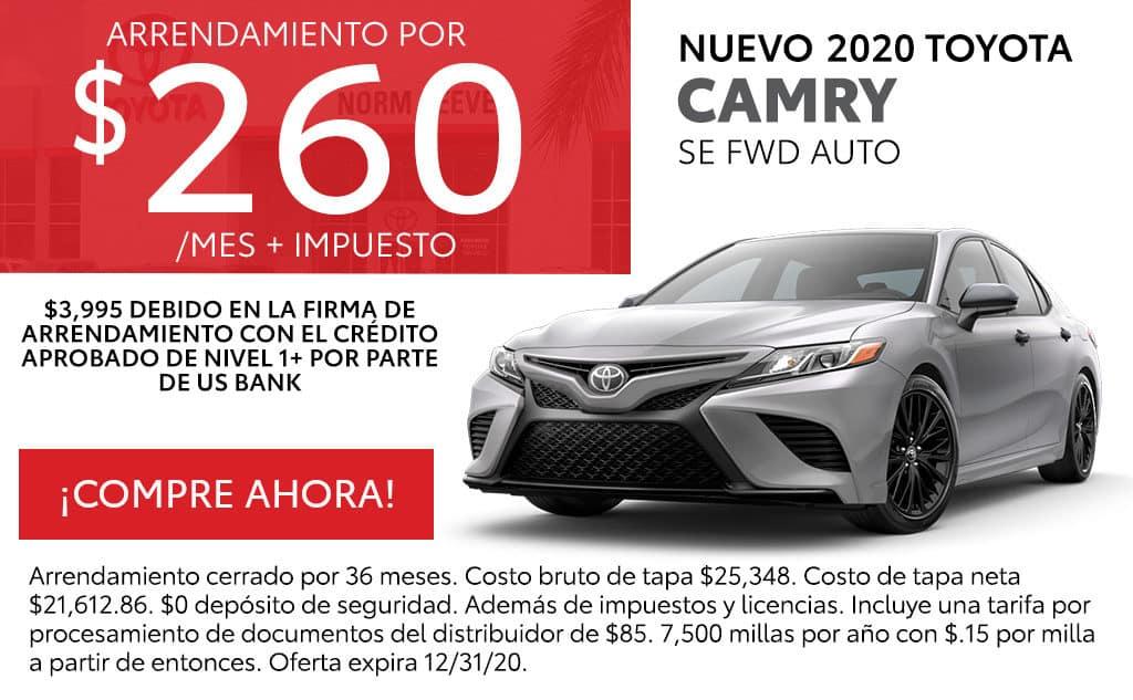 Nuevo 2020 Toyota Camry SE