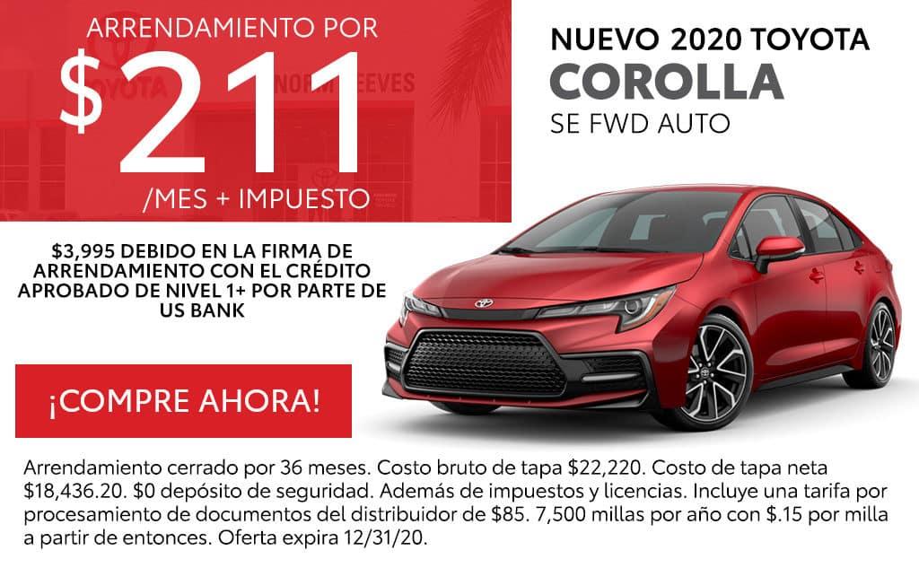 Nuevo 2020 Toyota Corolla SE