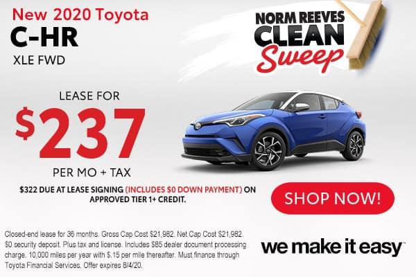 New 2020 Toyota C-HR XLE FWD