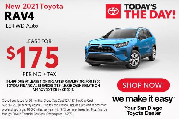 New 2021 Toyota RAV4 LE FWD Auto